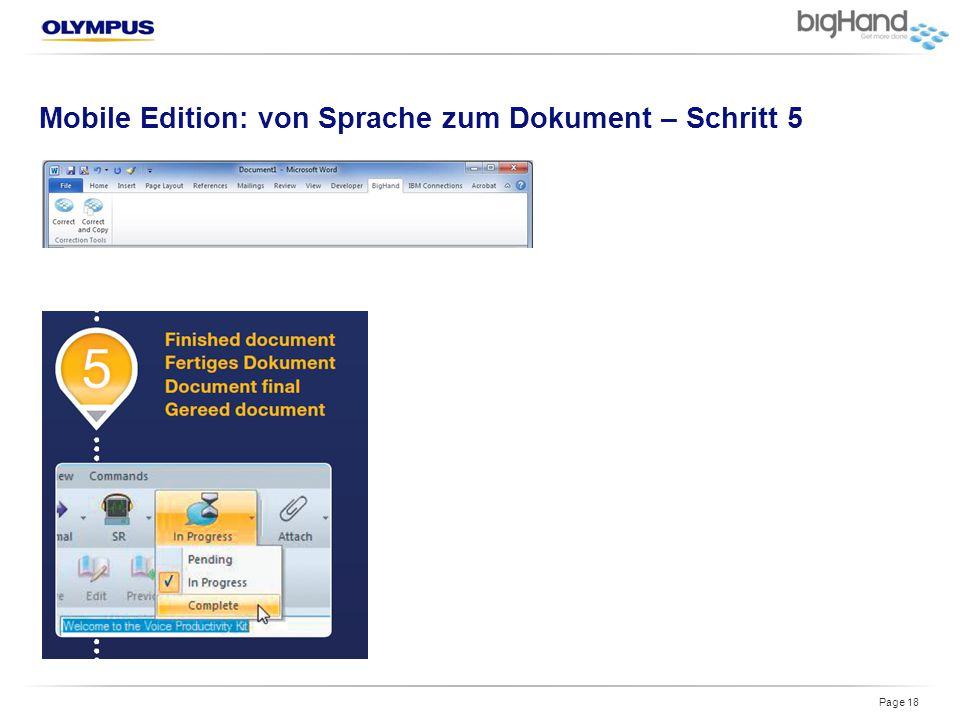 Mobile Edition: von Sprache zum Dokument – Schritt 5 Page 18