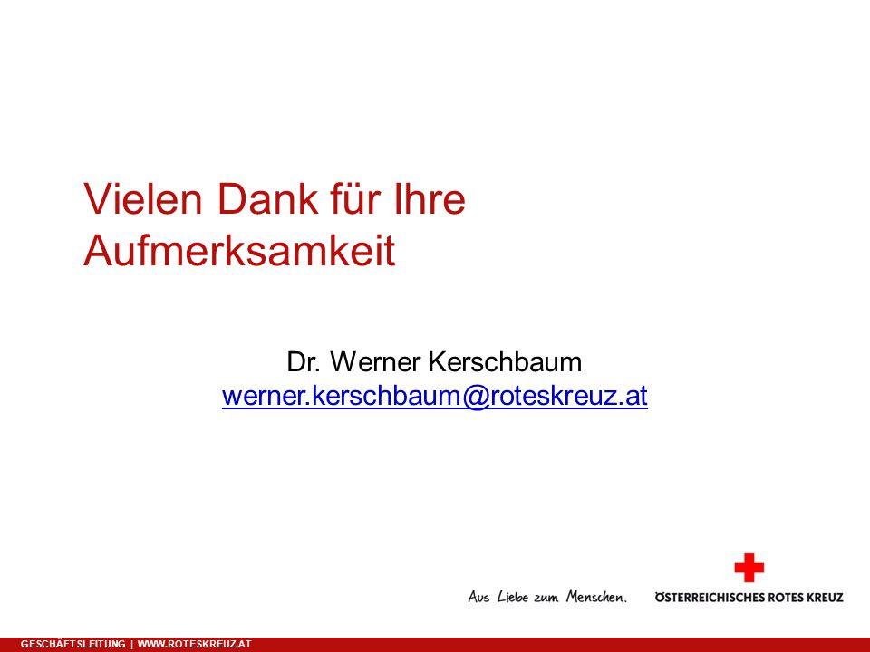 Vielen Dank für Ihre Aufmerksamkeit GESCHÄFTSLEITUNG | WWW.ROTESKREUZ.AT Dr.