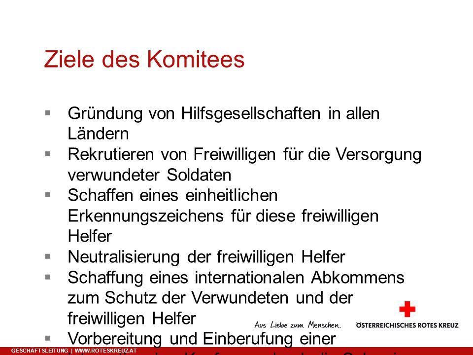 Ergebnisse der Genfer Konferenz 1864 GESCHÄFTSLEITUNG | WWW.ROTESKREUZ.AT  8.
