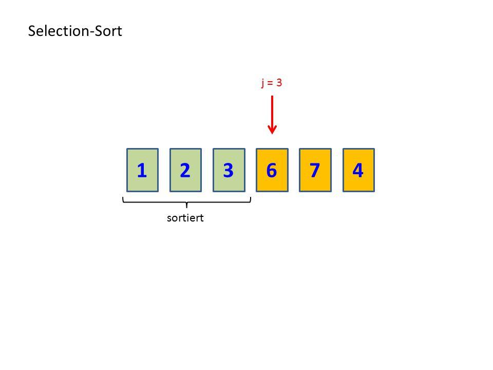 213674 Selection-Sort sortiert j = 3