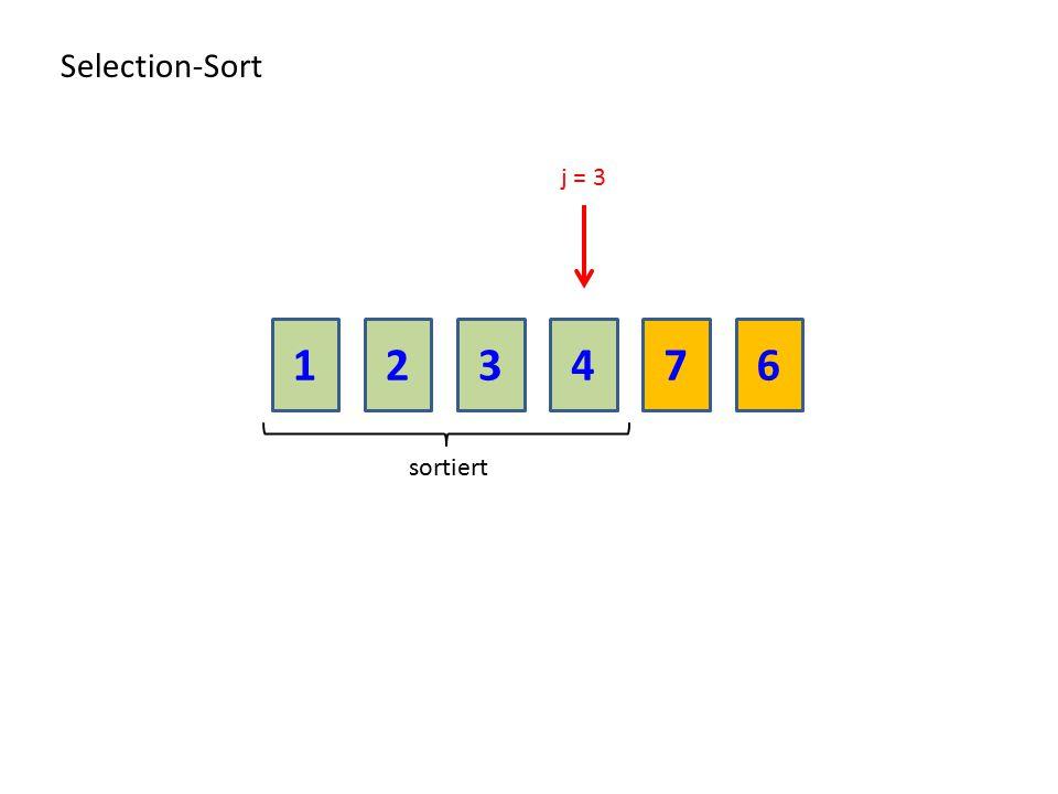 213476 Selection-Sort sortiert j = 3
