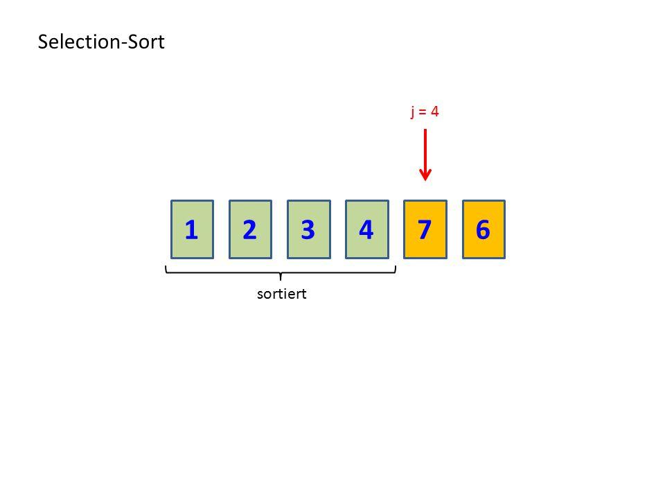 213476 Selection-Sort sortiert j = 4