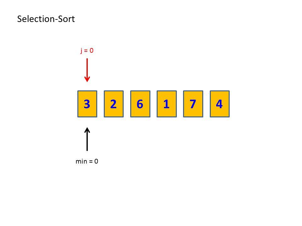236174 Selection-Sort min = 0 j = 0