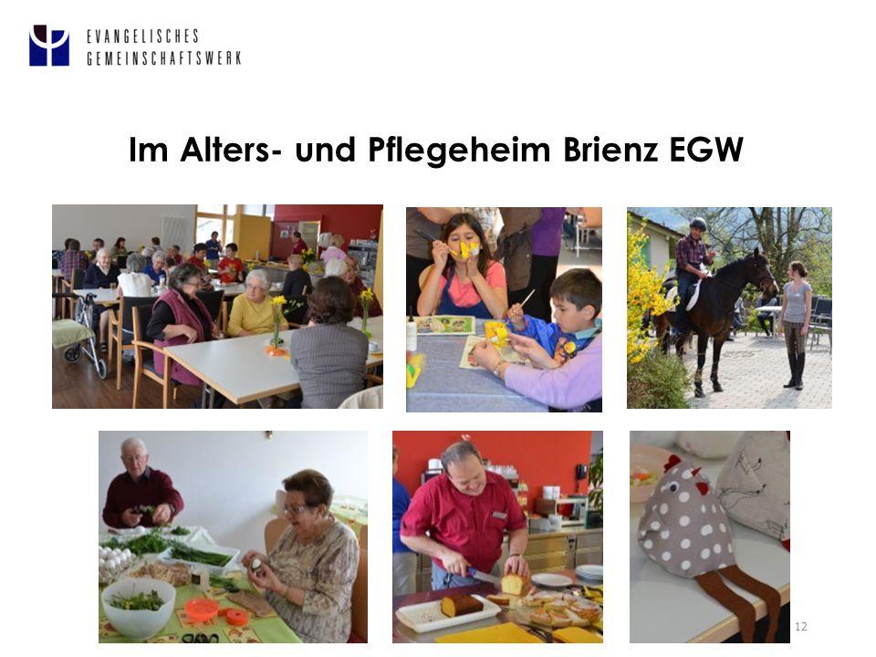 Im Alters- und Pflegeheim Brienz EGW 12