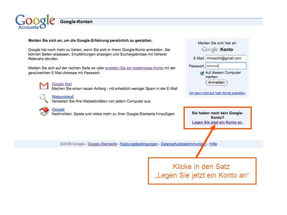 Google-Konto Eröffnen