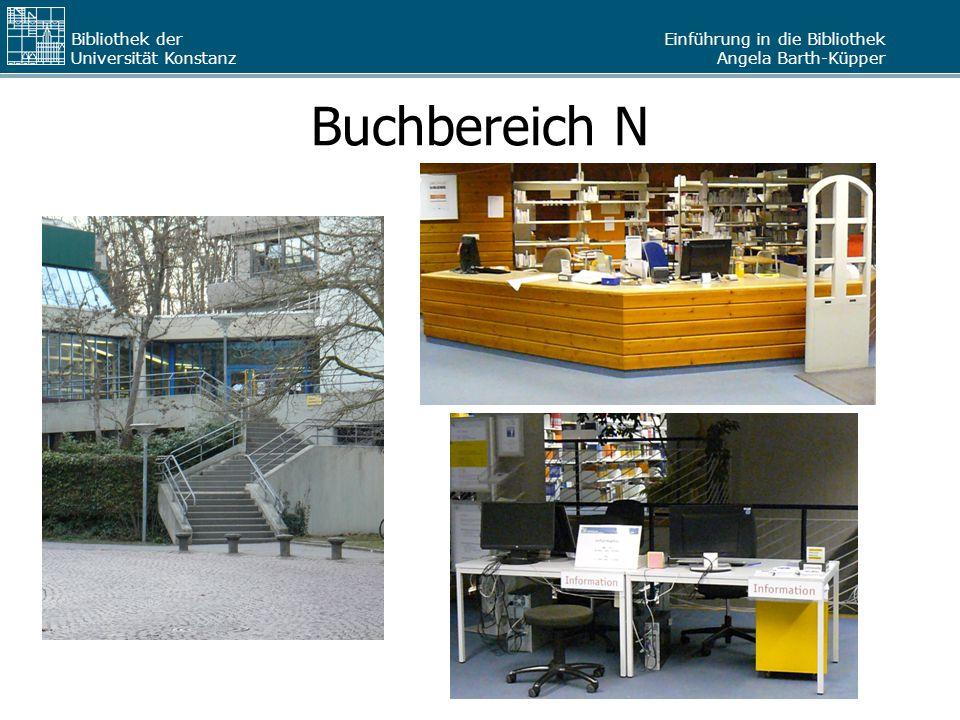 Einführung in die Bibliothek Angela Barth-Küpper Bibliothek der Universität Konstanz Kopieren / Drucken / Scannen (2) Kartenaufladegerät: –auf Ebene J 4 und N6 –nimmt nur Scheine Reihenfolge beachten.