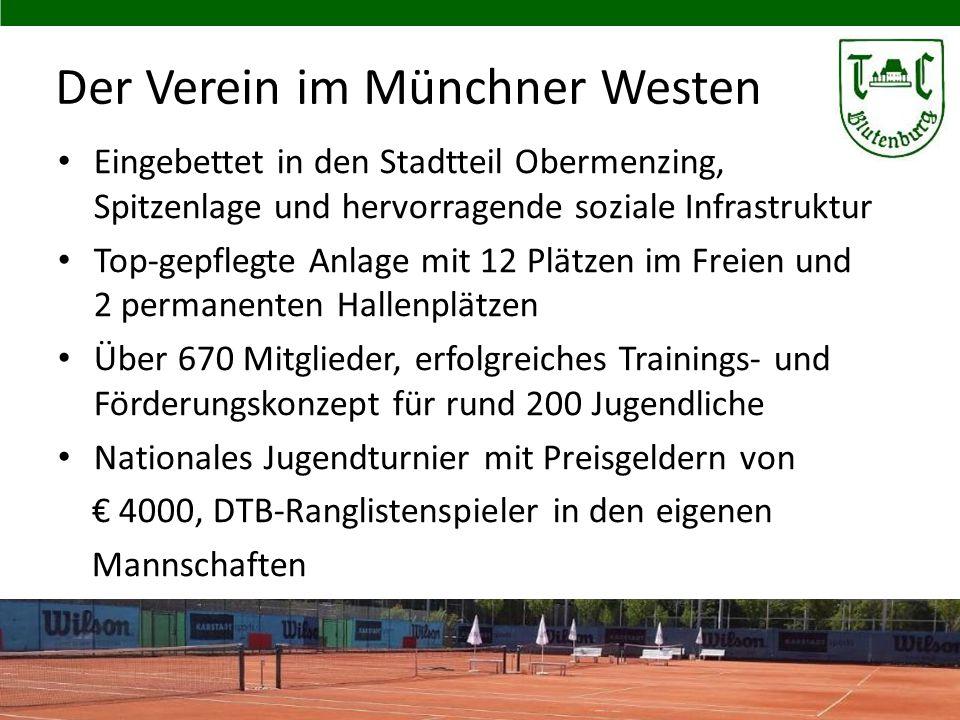 Der Verein im Münchner Westen Eingebettet in den Stadtteil Obermenzing, Spitzenlage und hervorragende soziale Infrastruktur Top-gepflegte Anlage mit 1