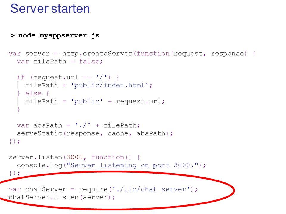 Server starten > node myappserver.js