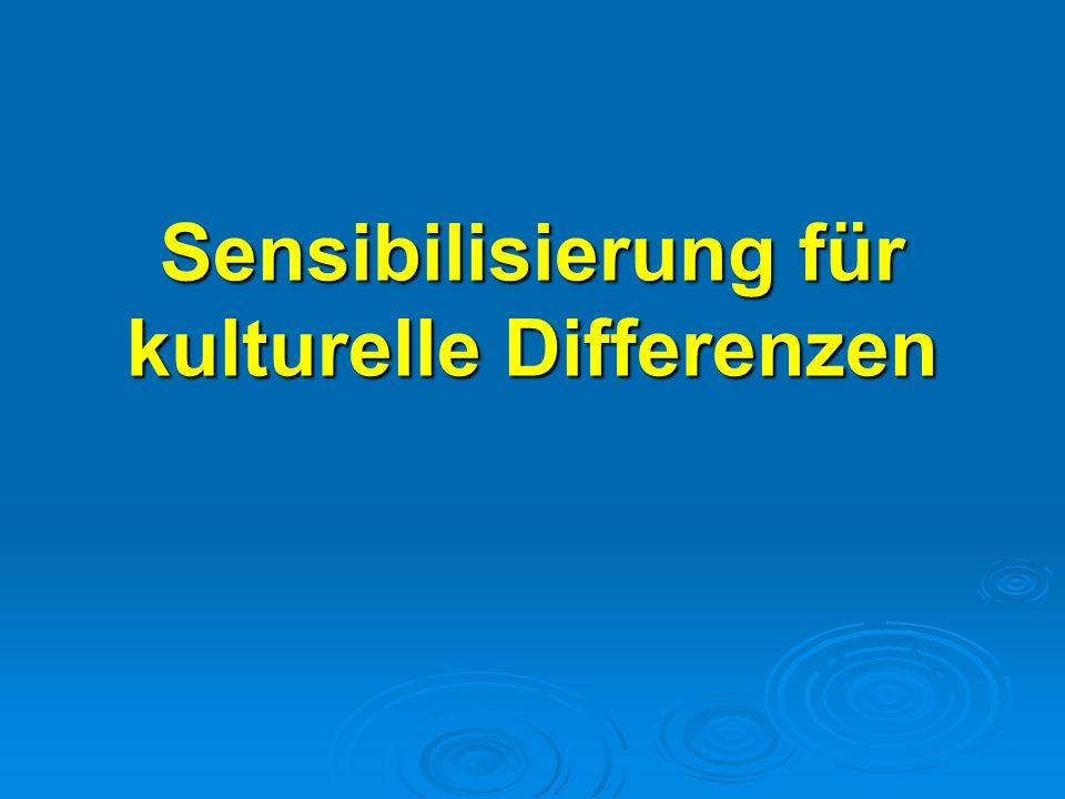 Sensibilisierung für kulturelle Differenzen