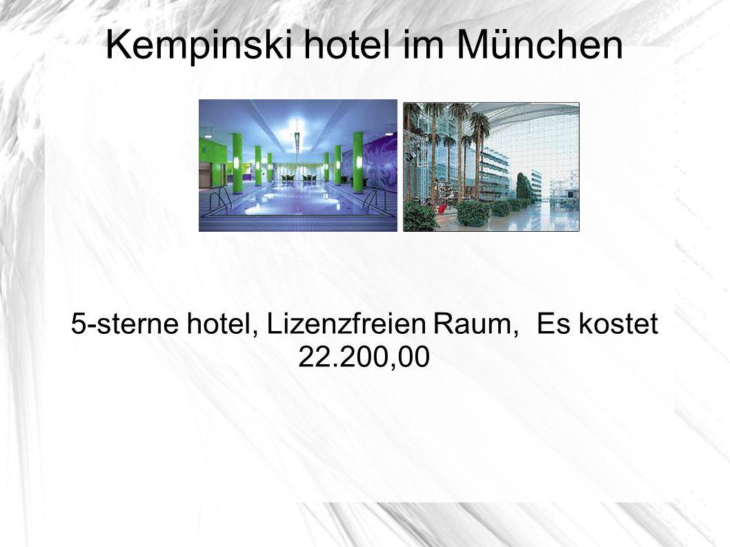 Kempinski hotel im München 5-sterne hotel, Lizenzfreien Raum, Es kostet 22.200,00