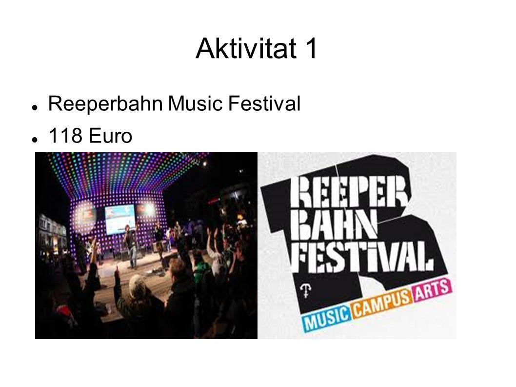 Aktivitat 1 Reeperbahn Music Festival 118 Euro