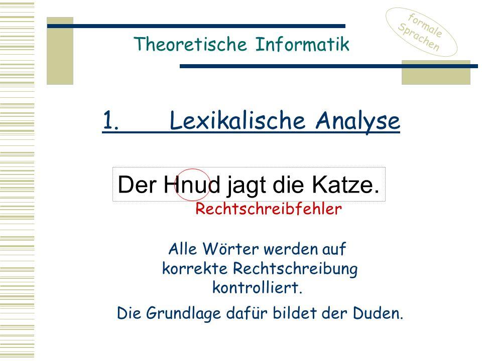 Theoretische Informatik Der Hnud jagt die Katze.