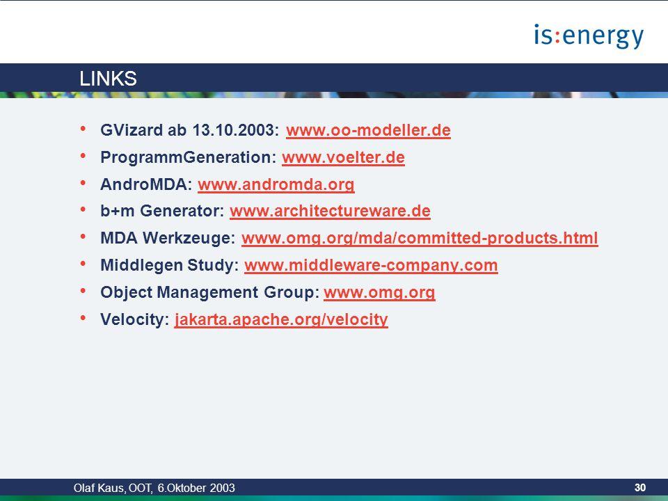 Olaf Kaus, OOT, 6.Oktober 2003 29 ENDE Fragen