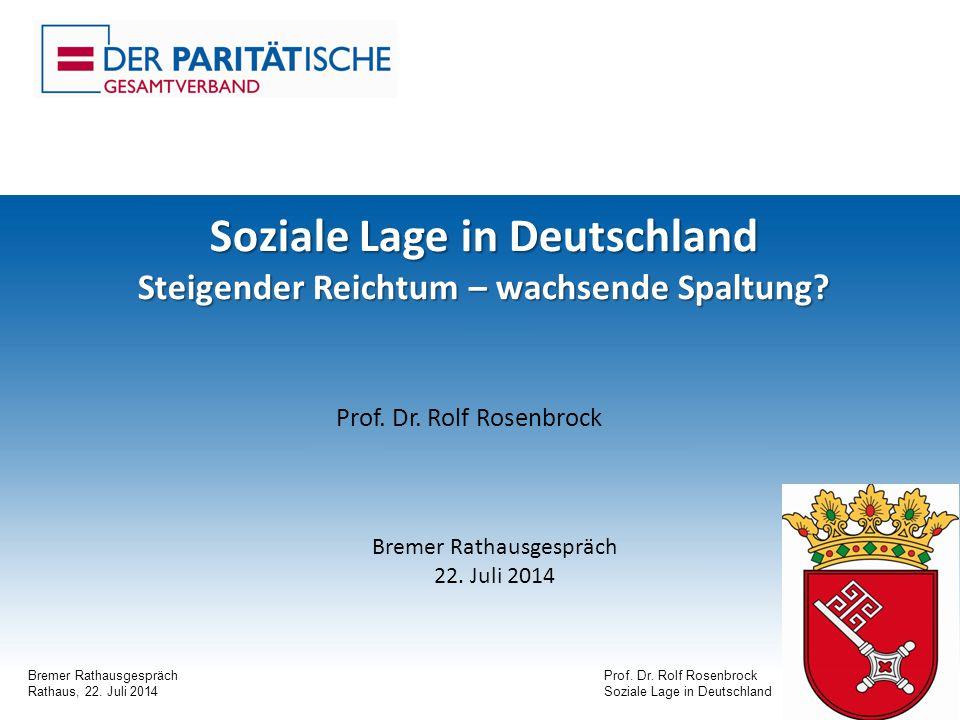Bremer RathausgesprächProf. Dr. Rolf Rosenbrock Rathaus, 22.