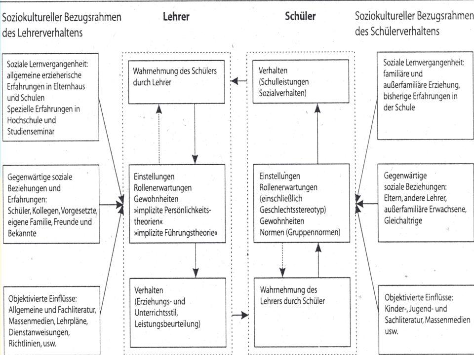 3 Kategorisierung der Schüler durch die Lehrer Der Lehrer nimmt Schüler nicht als Einzelpersonen wahr, um zu einer Reduktion der Komplexität der Wahrnehmungssituation zu gelangen  Einteilung der Schüler in verschiedene Kategorien Kategorien