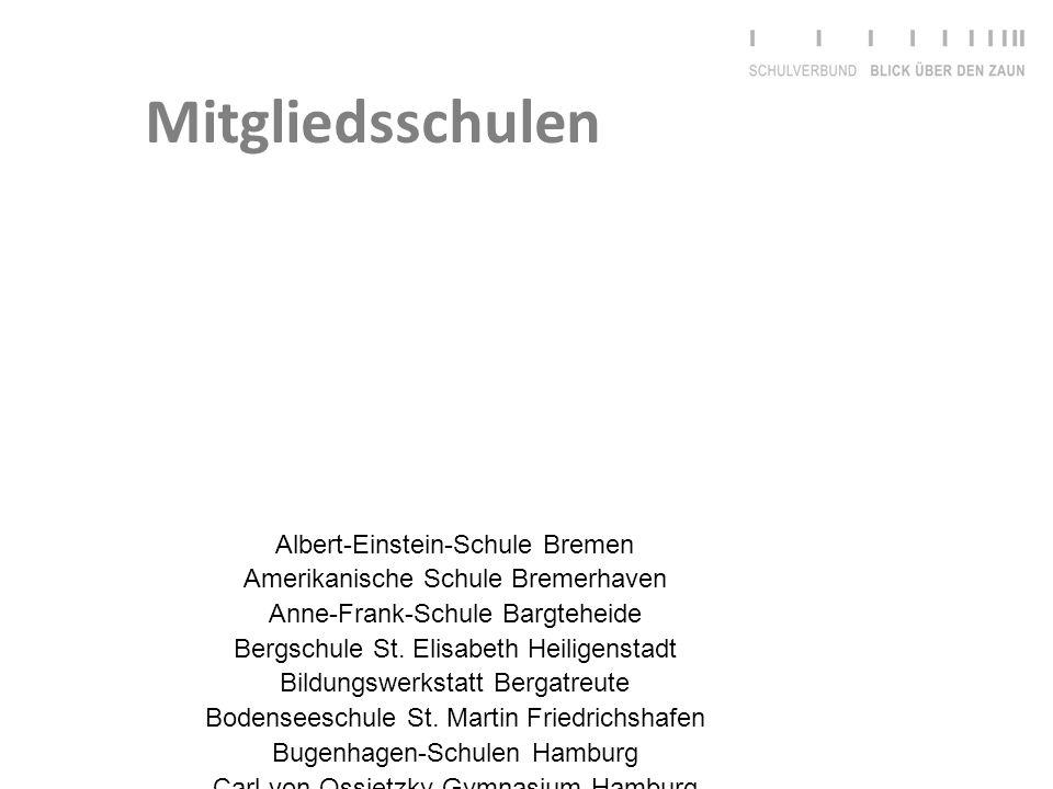 Albert-Einstein-Schule Bremen Amerikanische Schule Bremerhaven Anne-Frank-Schule Bargteheide Bergschule St. Elisabeth Heiligenstadt Bildungswerkstatt