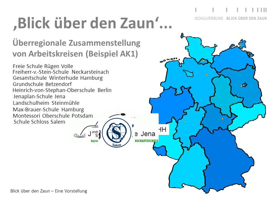 Blick über den Zaun – Eine Vorstellung 'Blick über den Zaun'... Überregionale Zusammenstellung von Arbeitskreisen (Beispiel AK1) Schule Schloss Salem