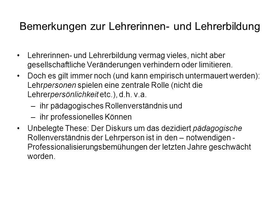 """Zur Diagnose einer """"ent-auratisierten Schule: Problemfelder 1.Ent-Kanonisierung und Re-Kanonisierungsversuche des Wissens und des Bildungserbes 2.Relativierung von Regeln und Normen: verstärkte Begründungspflichtigkeit 3.Hinterfragung der Lehrperson in didaktisch-methodischer und pädagogischer Hinsicht 4.Selbstdisziplin und Anstrengungsethos (""""Üben ) 5.Instrumentalisierung der Schule und Bildung (sog."""