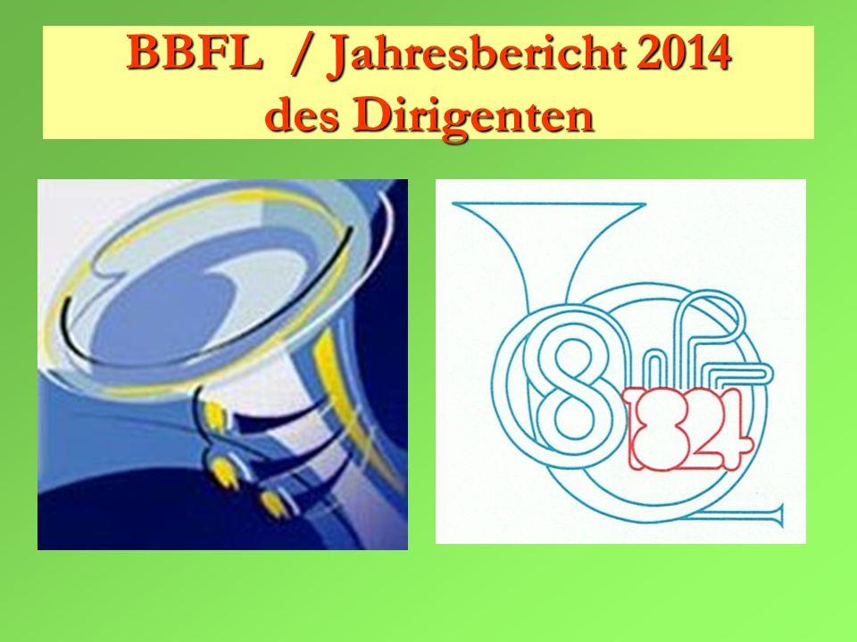 BBFL / Jahresbericht 2014 des Dirigenten