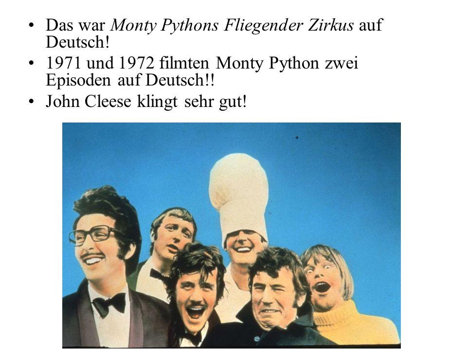 Monty Python auf Deutsch