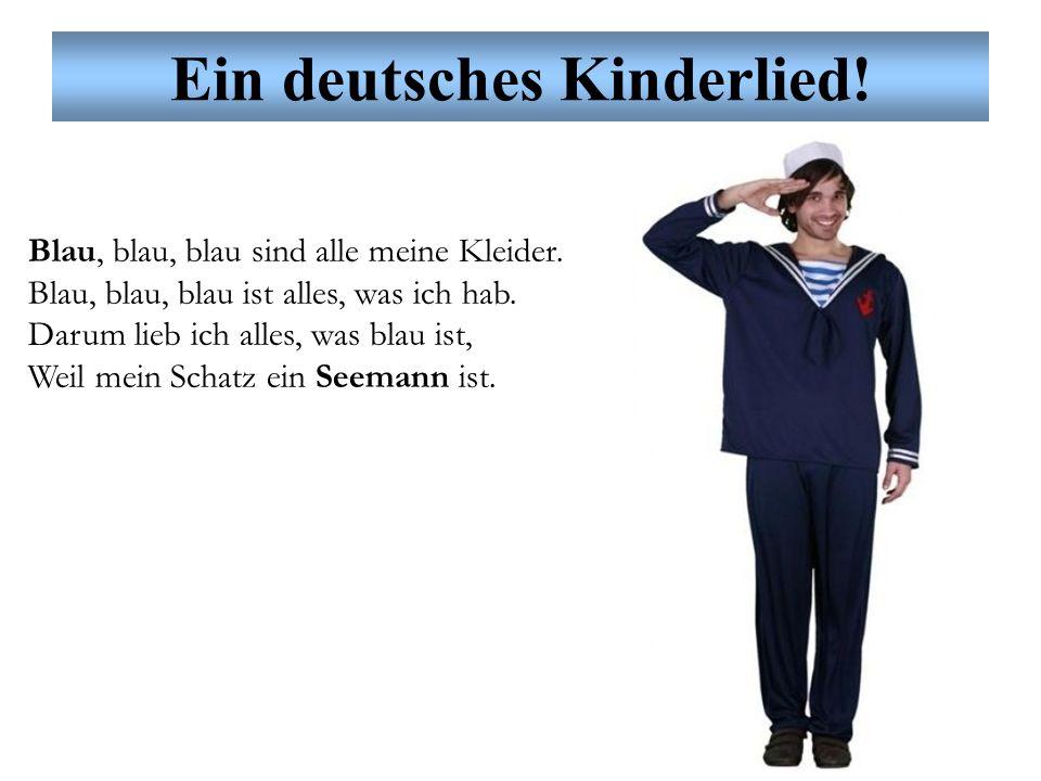 Ein deutsches Kinderlied! Grün, grün, grün sind alle meine Kleider. Grün, grün, grün ist alles, was ich hab. Darum lieb ich alles, was grün ist, Weil