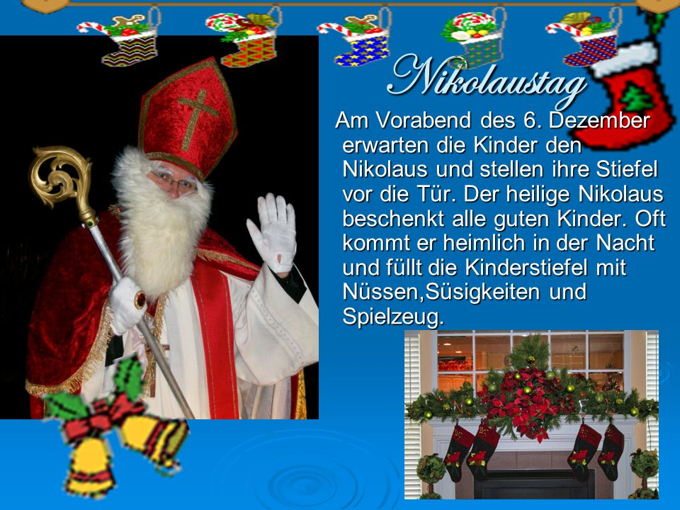 Nikolaustag Am Vorabend des 6.