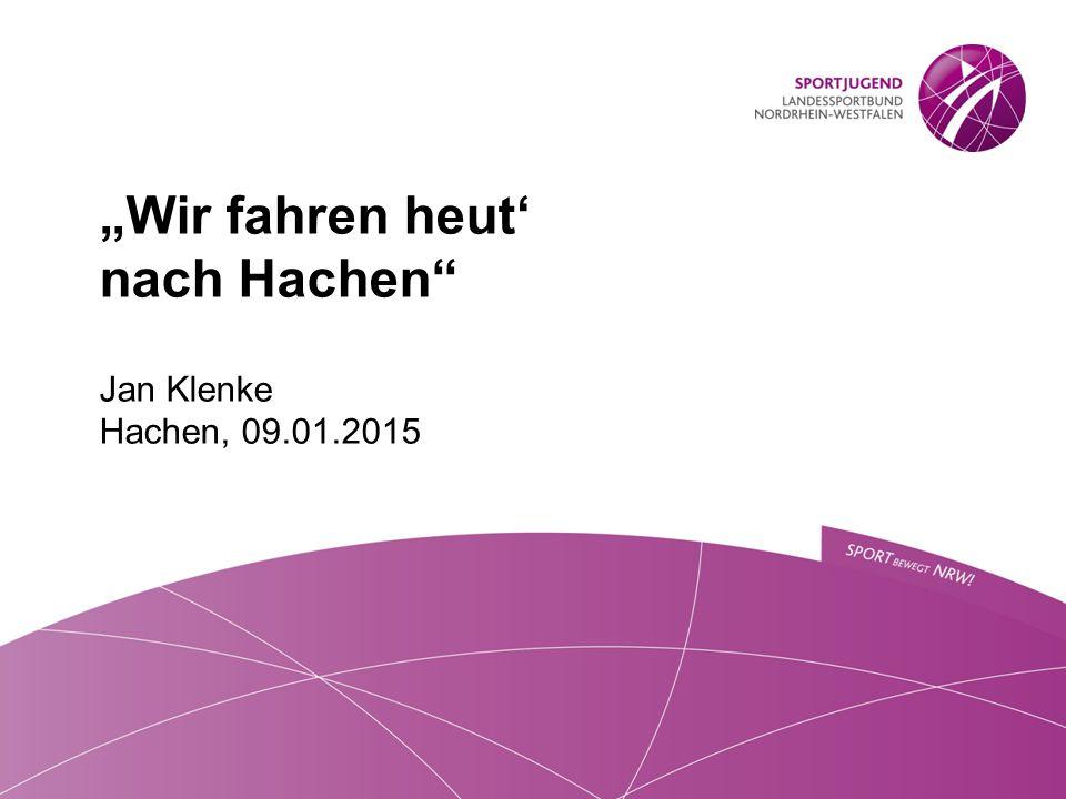 """""""Wir fahren heut' nach Hachen Jan Klenke Hachen, 09.01.2015"""