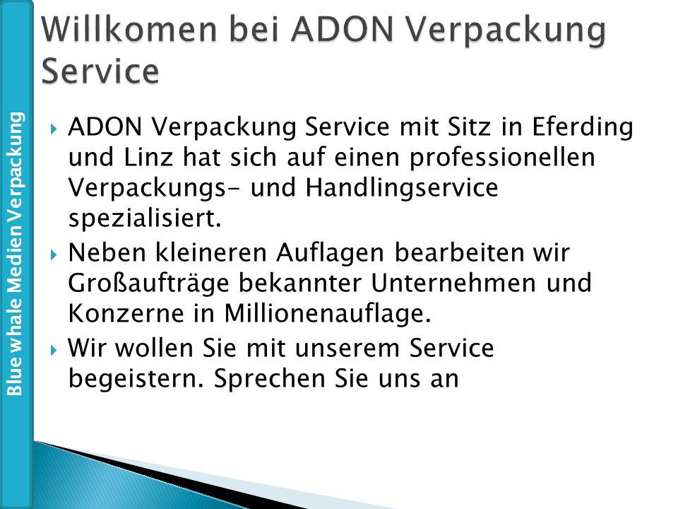  ADON Verpackung Service mit Sitz in Eferding und Linz hat sich auf einen professionellen Verpackungs- und Handlingservice spezialisiert.  Neben kle
