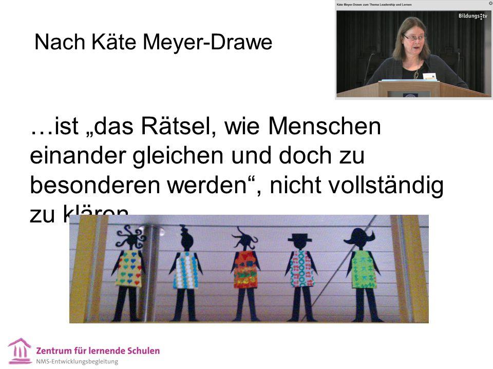 """Nach Käte Meyer-Drawe …ist """"das Rätsel, wie Menschen einander gleichen und doch zu besonderen werden"""", nicht vollständig zu klären."""