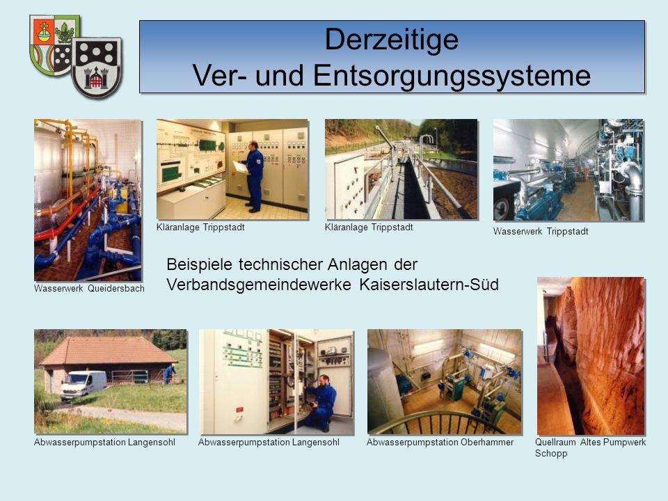 Wasserwerk Queidersbach Kläranlage Trippstadt Wasserwerk Trippstadt Kläranlage Trippstadt Abwasserpumpstation Langensohl Abwasserpumpstation Oberhamme