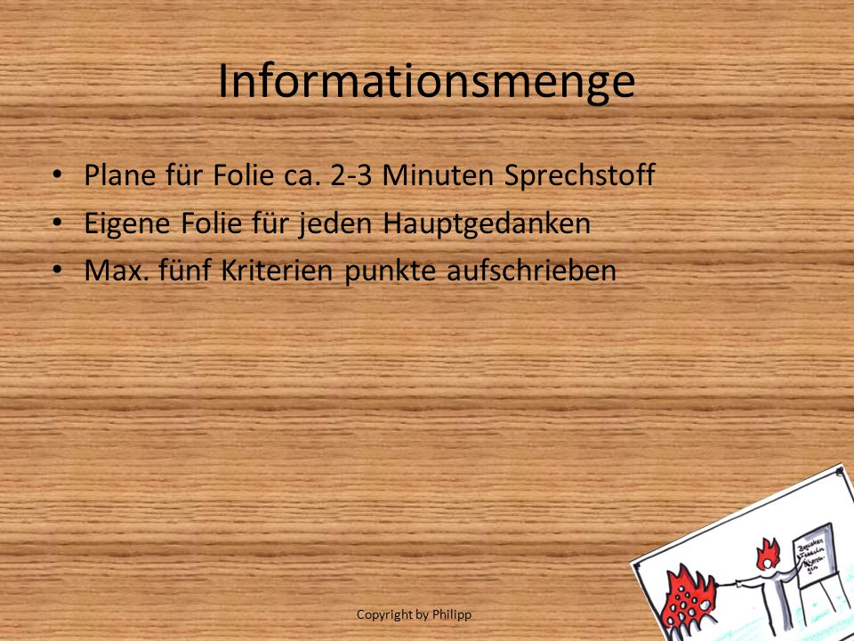 Informationsmenge Plane für Folie ca.
