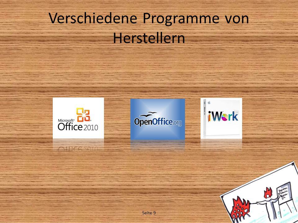 Verschiedene Programme von Herstellern Seite 99