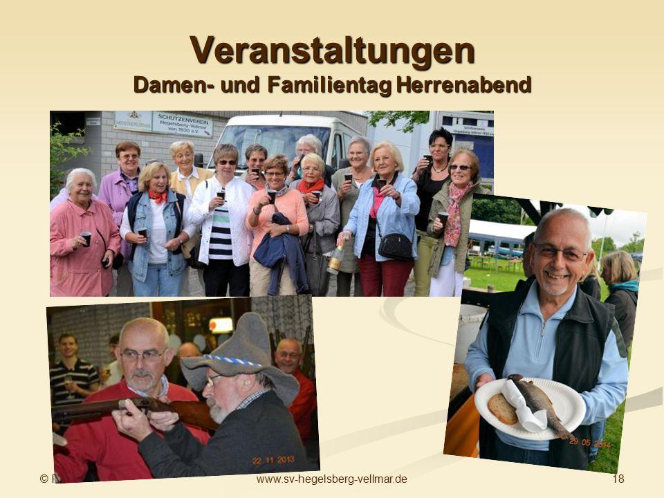 © PG 18www.sv-hegelsberg-vellmar.de Veranstaltungen Damen- und Familientag Herrenabend