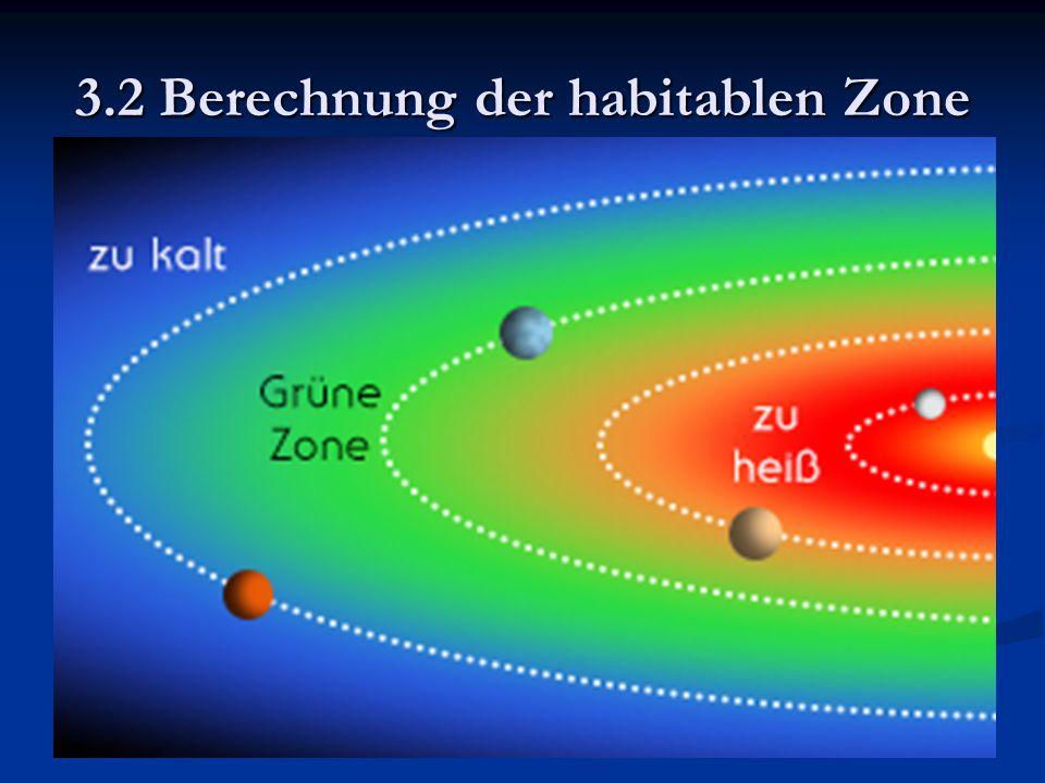 3.2 Berechnung der habitablen Zone