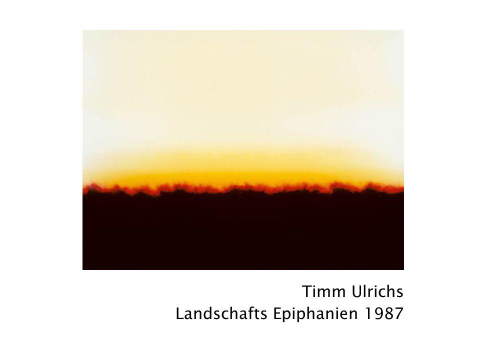 Timm Ulrichs Landschafts Epiphanien 1987