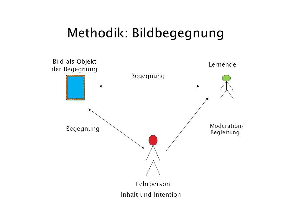 Methodik: Bildbegegnung Bild als Objekt der Begegnung Begegnung Lernende Moderation/ Begleitung Begegnung Lehrperson Inhalt und Intention