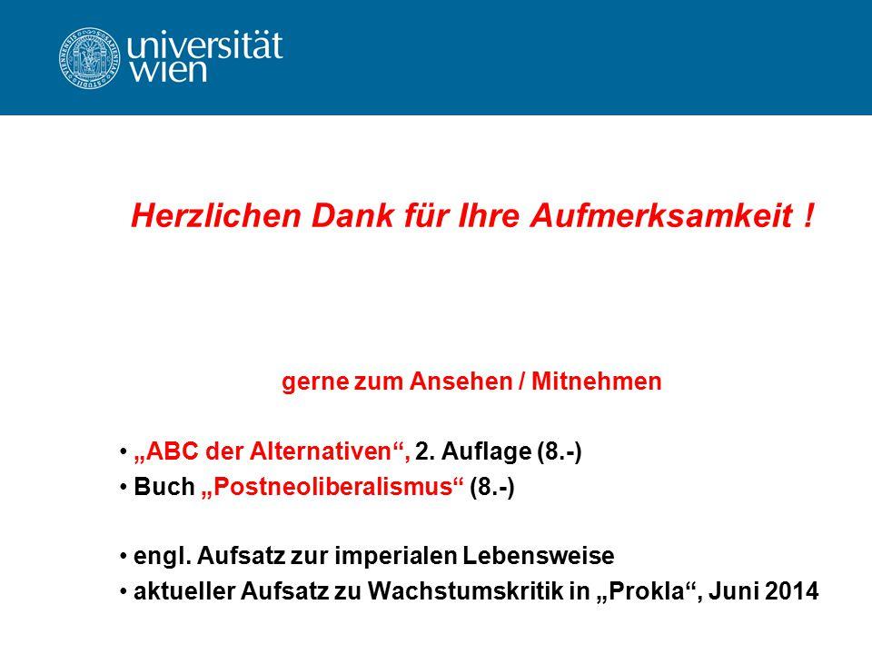 """Herzlichen Dank für Ihre Aufmerksamkeit ! gerne zum Ansehen / Mitnehmen """"ABC der Alternativen"""", 2. Auflage (8.-) Buch """"Postneoliberalismus"""" (8.-) engl"""