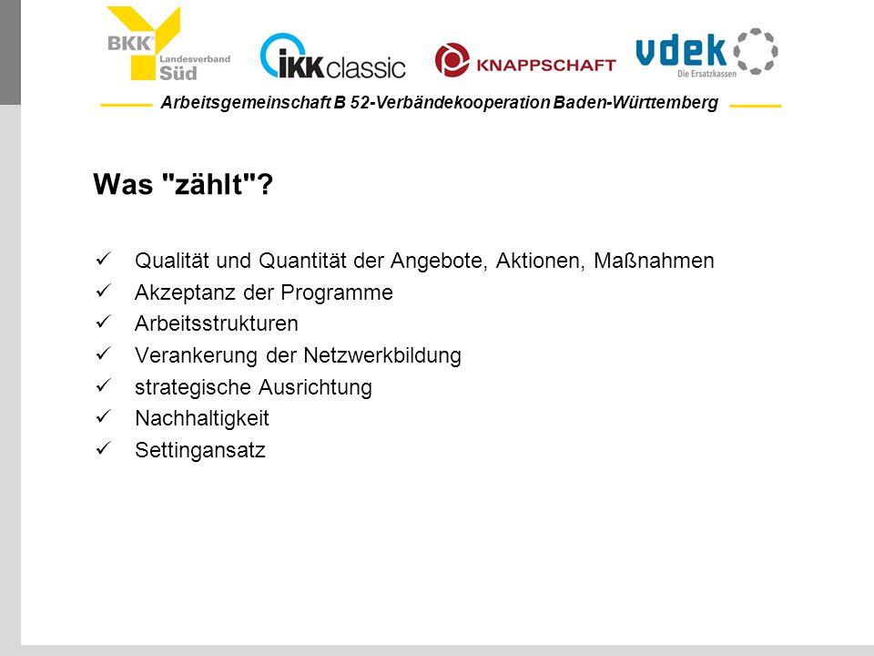 Arbeitsgemeinschaft B 52-Verbändekooperation Baden-Württemberg Was