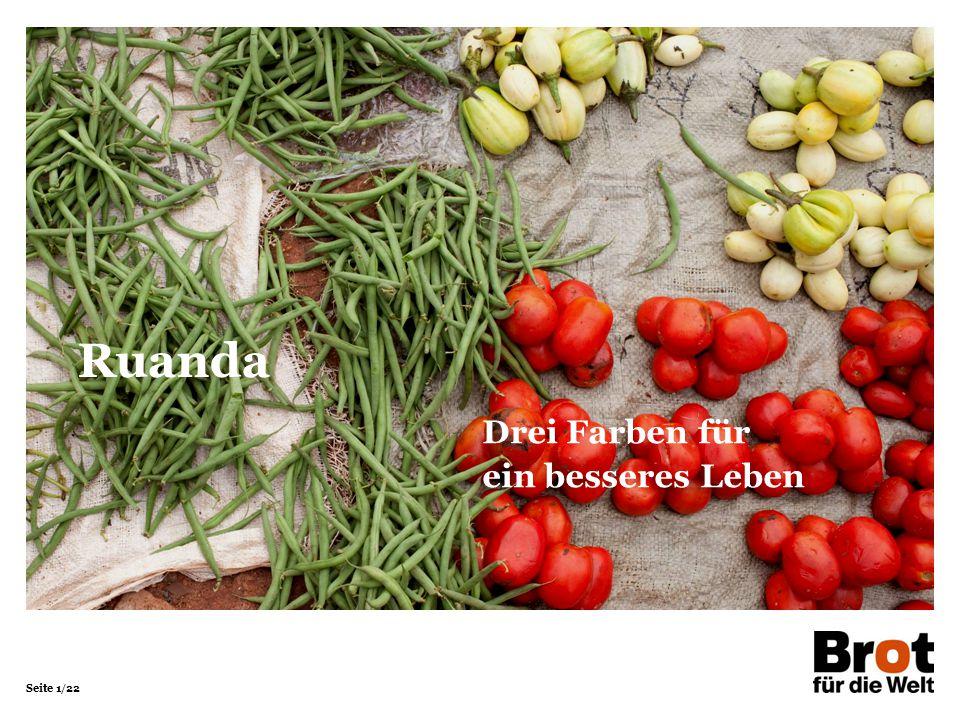 Seite 12/22 In ihrem Garten baut Christine Spinat, Papaya, Ananas, Bohnen, Auberginen und Zwiebeln an.