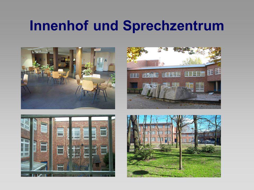Innenhof und Sprechzentrum