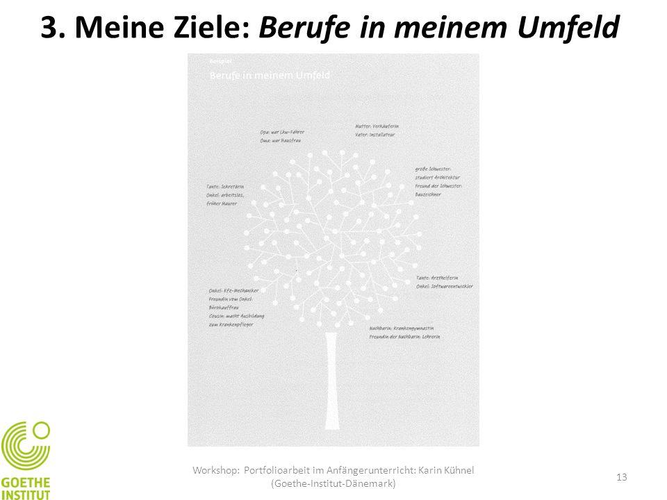 Workshop: Portfolioarbeit im Anfängerunterricht: Karin Kühnel (Goethe-Institut-Dänemark) 13 3. Meine Ziele: Berufe in meinem Umfeld
