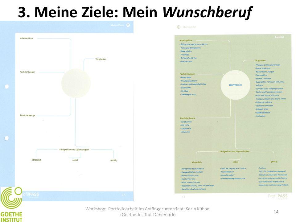 Workshop: Portfolioarbeit im Anfängerunterricht: Karin Kühnel (Goethe-Institut-Dänemark) 14 3. Meine Ziele: Mein Wunschberuf