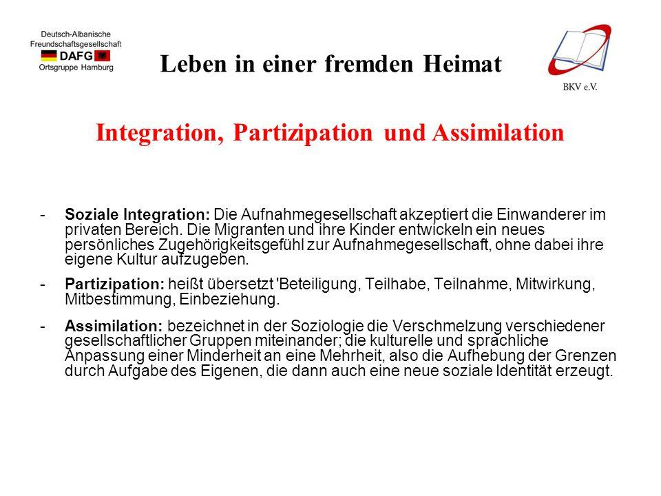 Leben in einer fremden Heimat Integration der Albaner in Hamburg 1.Deutsch Albanische Freundschaftsgesellschaft (DAFG ), 1971 2.Klub Kosova Hamburg 1977 e.V.
