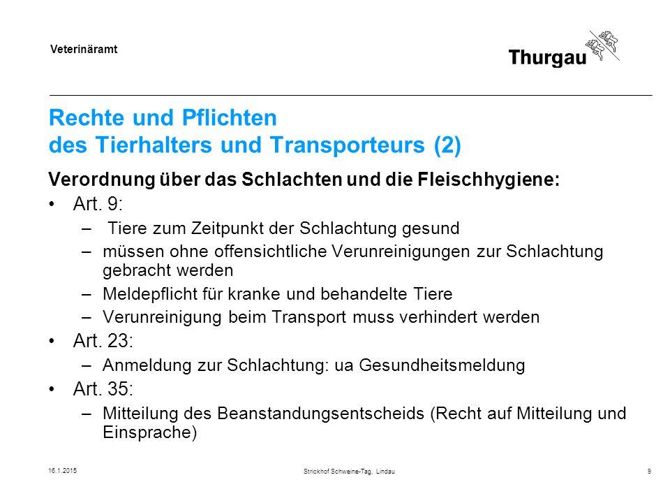 Veterinäramt Beispiel Strickhof Schweine-Tag, Lindau20 Umgang mit kranken Schweinen.