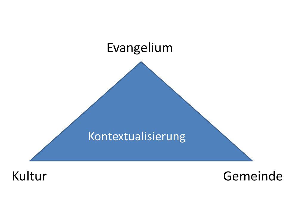 Kontextualisierung Evangelium KulturGemeinde