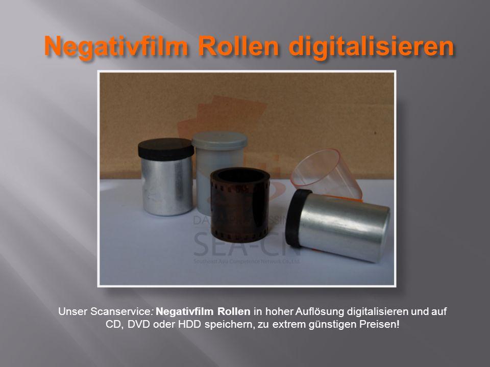 Negativfilm Rollen digitalisieren Unser Scanservice: Negativfilm Rollen in hoher Auflösung digitalisieren und auf CD, DVD oder HDD speichern, zu extrem günstigen Preisen!