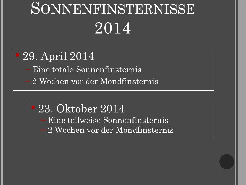 S ONNENFINSTERNISSE 2014 29.