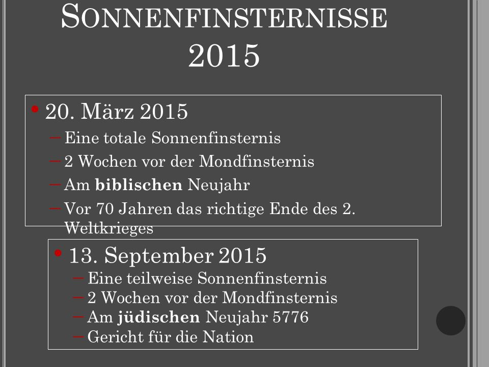 S ONNENFINSTERNISSE 2015 20.