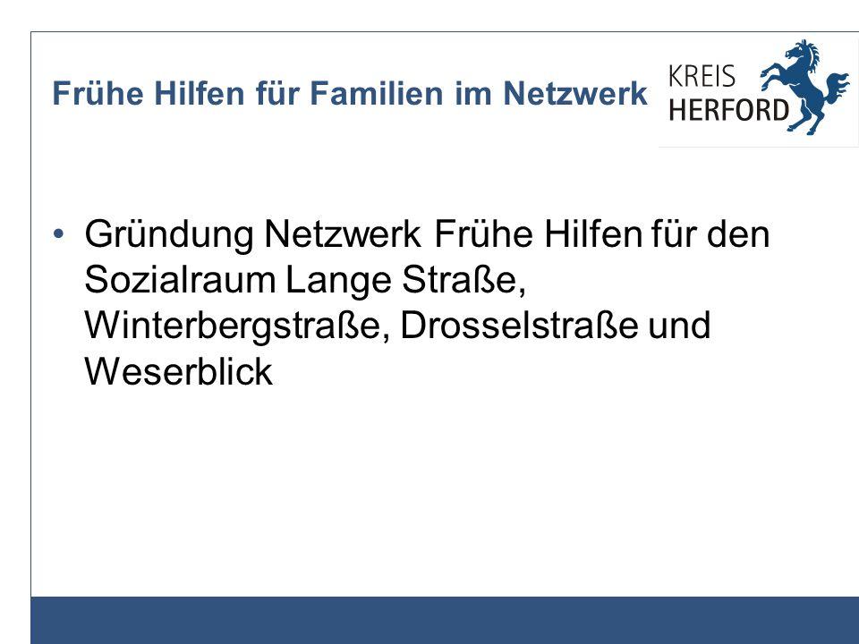 Netzwerke im Kreis Herford - Im Februar 2012 wurde ein weiteres Netzwerk in der Gemeinde Hiddenhausen eingerichtet.
