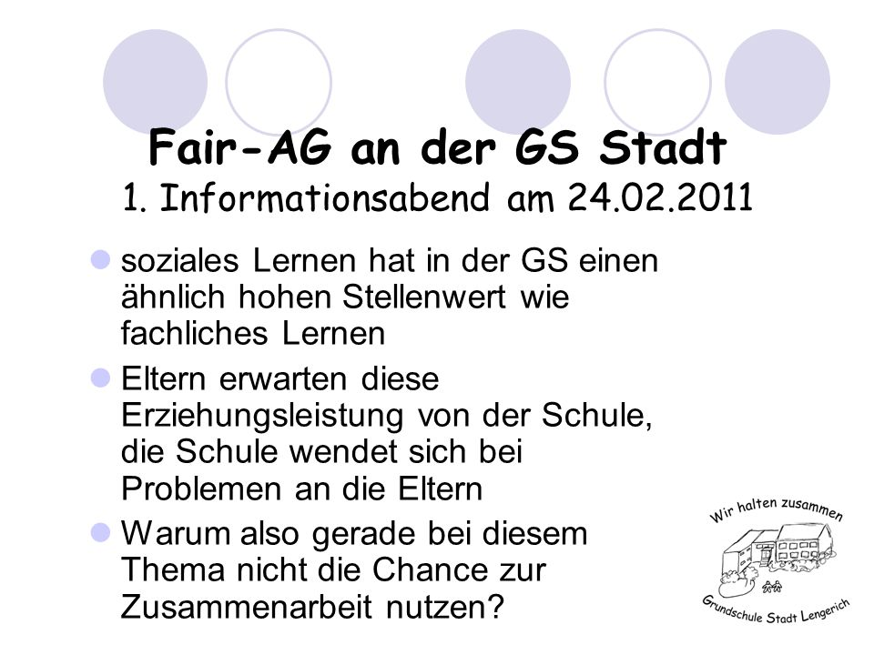Fair-AG an der GS Stadt 1.